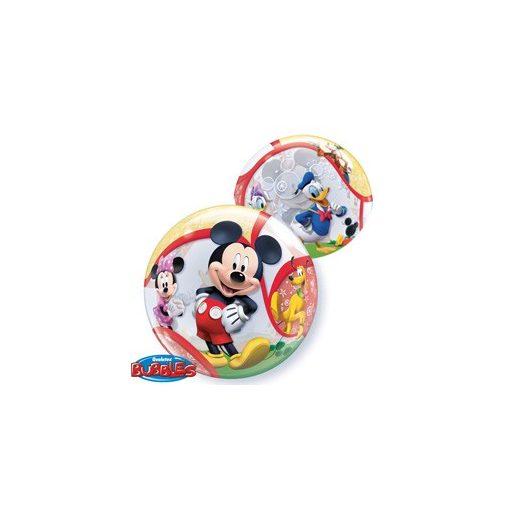"""Mintás Bubbles lufi 22"""" 56cm Héliummal töltve Disney Mickey Mouse, 41067"""