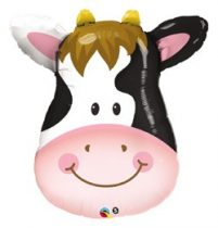"Óriás fólia lufi 32""  81cm boci, tehén, cow, 16455, héliummal töltve"