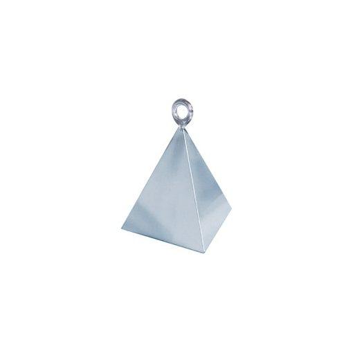 Léggömbsúly, nehezék 110g piramis forma, ezüst színben, 14420