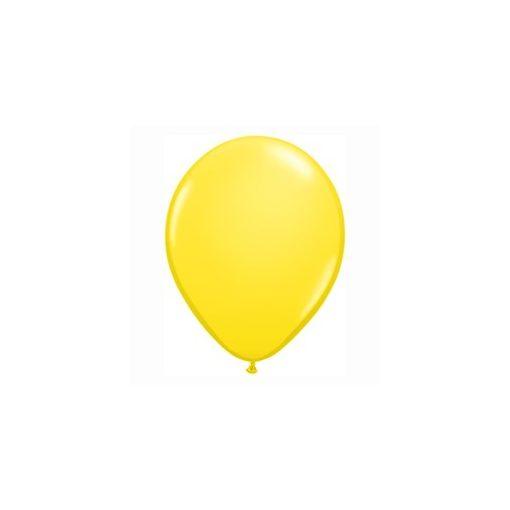 "QUALATEX 11"" (28cm-es) Latex léggömb, standard színek, sárga lufi, standard yellow"