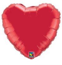 """Óriás fólia lufi 36"""" 91cm szív, 12657, héliummal töltve"""