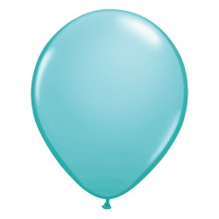 """Lufi QUALATEX 11"""" (28cm-es) Latex léggömb, fashion színek 100db/csomag, karibi kék, fashion caribbean blue"""