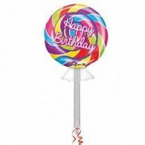 "Óriás fólia lufi 42"" 107cm nyalóka, lollipop, 2879401, héliummal töltve"