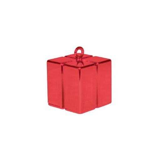 Léggömbsúly, nehezék 110g ajándékdoboz forma, piros színben, 14395