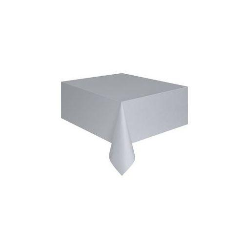 Műanyag asztalterítő 137x274cm ezüst, p5083