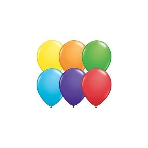 Lufi QUALATEX 11' (28cm-es) szivárvány színek vegyesen 100db/csomag