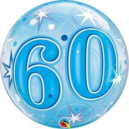 """Számos Bubbles lufi 22"""" 56cm 60-as számmal, Héliummal töltve, 48449"""