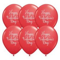 "Valentin napi latex lufi 11"" 28cm ""Happy Valentine's day"", 48206"