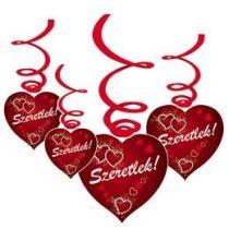 Szeretlek, függő dekoráció 6db, 38287