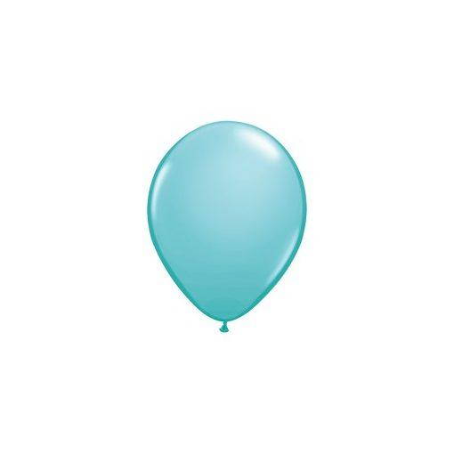 """Lufi QUALATEX 5"""" (13cm-es) Latex léggömb, fashion színek 100db/csomag, karibi kék, fashion caribbean blue 50319"""