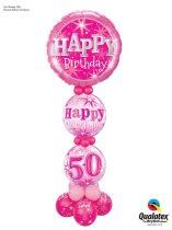 Lufiszobor - lufikompozíció  - születésnapra - választható számmal