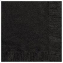 Szalvéta 33x33cm egyszínű 20db fekete p3202