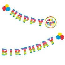 Üdvözlőfelirat Happy Birthday 2m