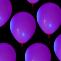 """Ledes lufi, világító lufi 11"""" 28 cm, latex, héliummal töltve, választható színekben"""