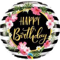 """Szülinapi fólia lufi 18"""" 45cm Happy Birthday, ananas, ananász, 57280, héliummal töltve"""