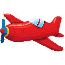 """Óriás fólia lufi 36"""", 91cm-es repülő, airplane 57811, héliummal töltve"""