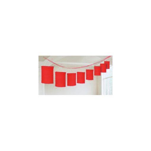Lampionfüzér, 3,6m, piros színben, a2205540