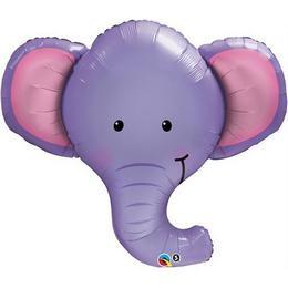 """Óriás fólia lufi 39"""" 100cm elefánt, 16136, héliummal töltve"""