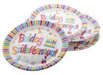Papírtányér Boldog Születésnapot! 23cm 6db, PT44319