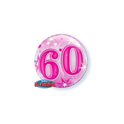 """Számos Bubbles lufi 22"""" 56cm 60-as számmal, Héliummal töltve, 43127"""