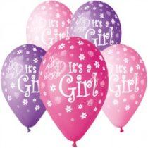 "Latex lufi (gumi) 11"" 10db/csomag It's a girl - 11-printIts a girl"