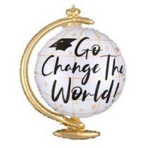 """Ballagási óriás fólia lufi 23"""" 58cm, Go Change The World, 4091601, héliummal töltve"""