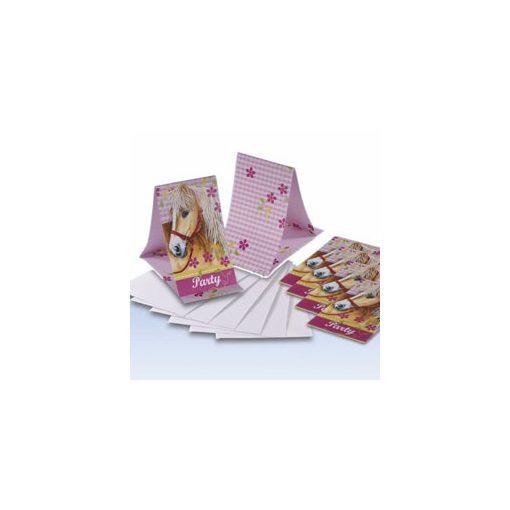 Meghívó borítékkal, Lovas, 6db, 551266