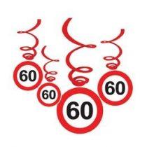 Sebességkorlátozó függő dekoráció 6db-os 60-as számmal, 33015