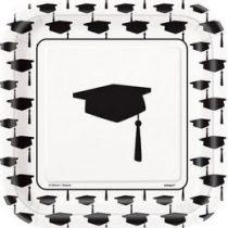 Papírtányér 19cm 10db Congrats Graduate, ballagásra, p45234