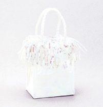Léggömbsúly, nehezék 160g ajándéktasak forma, arany színben, 4984