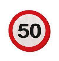 Szalvéta sebességkorlátozó számos 30cm 20db 50-es számmal