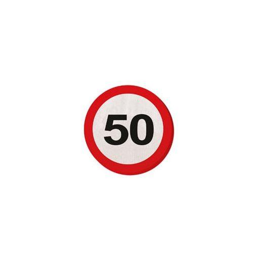 Szalvéta sebességkorlátozó számos 30cm 20db 50-es számmal f28350