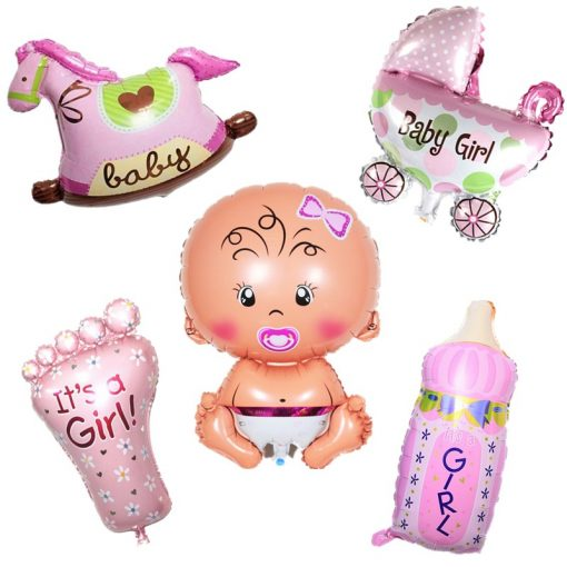 Fólia lufi 5db Baby girl levegővel töltve, levegővel tölthető