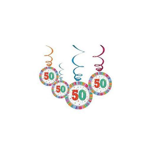 Függő dekoráció, 6db, Radiant, 50-es számmal, 20260