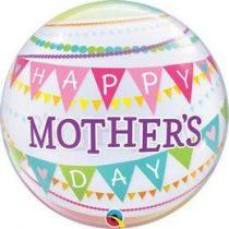 """Anyák napi Bubbles lufi 22"""" 56cm Happy Mother's Day, 55799, Héliummal töltve"""