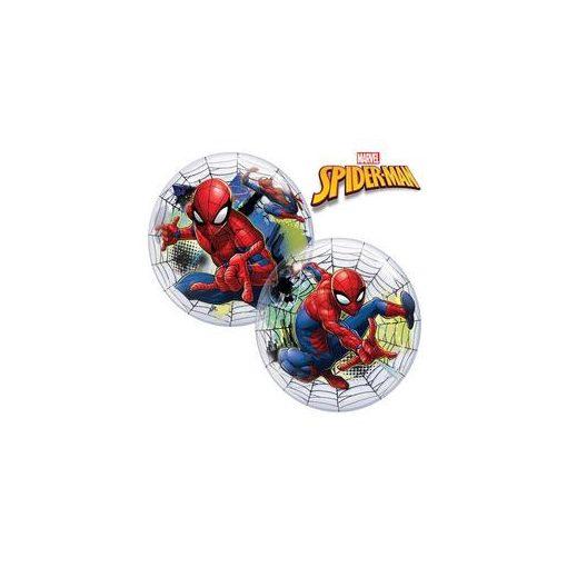 """Mintás Bubbles lufi 22"""" 56cm Héliummal töltve Marvel's Pókember, 54052"""