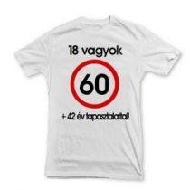 Póló sebességkorlátozó számos felirattal 60-as