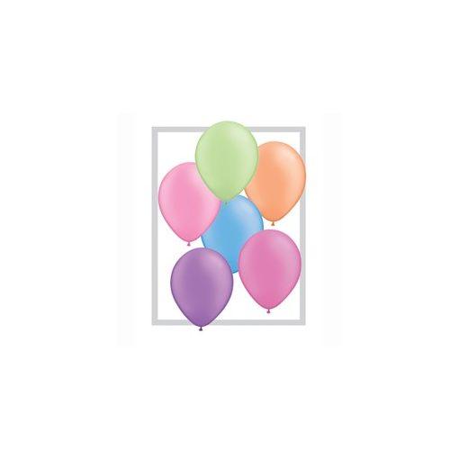 Lufi QUALATEX 11' (28cm-es) neon színek vegyesen 100db/csomag