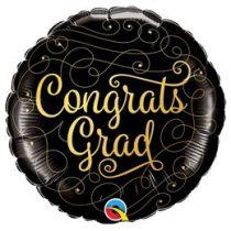 """Ballagási fólia lufi 18"""" 45cm Congrats grad, 82277, héliummal töltve"""