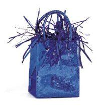 Léggömbsúly, nehezék 160g ajándéktasak forma, kék színben, 49011