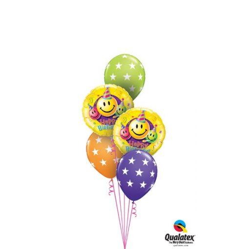 Héliumos luficsokor szülinapra, Smiley - INGYENES KISZÁLLÍTÁSSAL