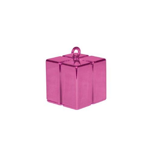 Léggömbsúly, nehezék 110g ajándékdoboz forma, magenta színben, 14393