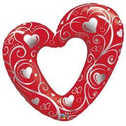 """Óriás fólia lufi 42"""" 107cm szív, 16441, héliummal töltve"""