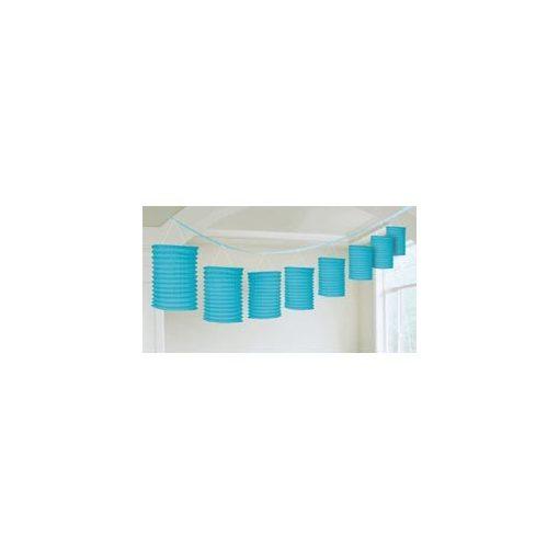 Lampionfüzér, 3,6m, kék színben, a2205554