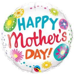 """Anyák napi fólia lufi 18"""" 45cm Happy Mother's Day, 47392, héliummal töltve"""