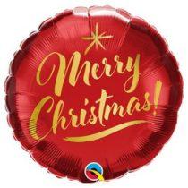 """Karácsonyi fólia lufi 18"""" 45cm Merry Christmas, 89850"""