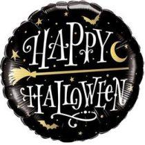 """Fólia lufi 18"""" 45cm Halloween, 58157, héliummal töltve"""