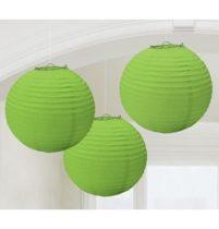 Lampion gömb 24cm 3db, zöld színben a2405553
