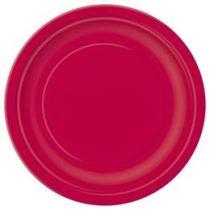 Papírtányér 23cm 8db piros p3125