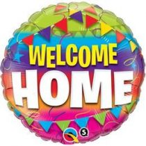 "Fólia lufi 18"" 45cm Welcome Home, 45245, héliummal töltve"